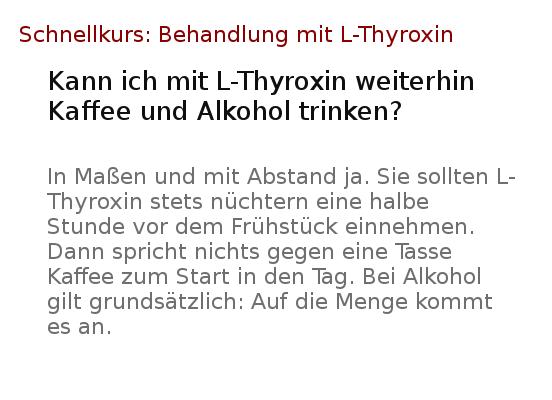 Wie Schnell Wirkt L Thyroxin